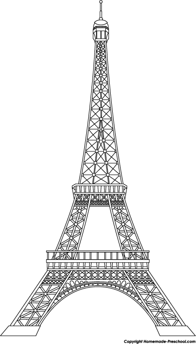 Eiffel tower bw