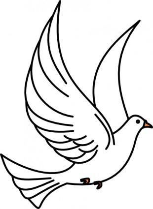 Flying dove clip art free vector in open office drawing svg svg 2