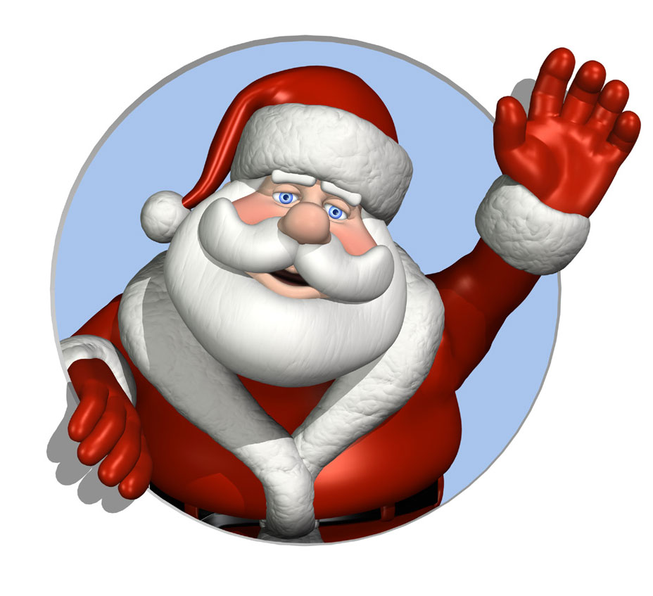Free christmas clipart santa vector kche radio