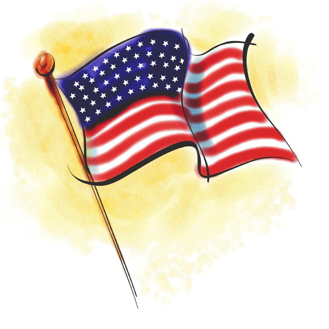 Free clip art american flag clipart 2