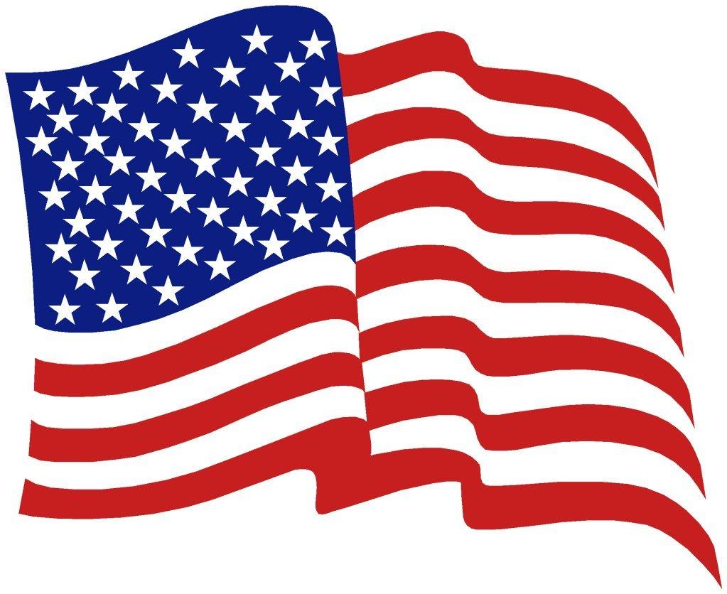 Free clip art american flag clipart