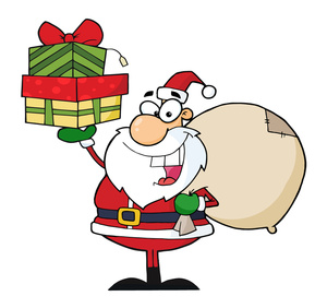 Free santa clip art image generous santa claus delivering