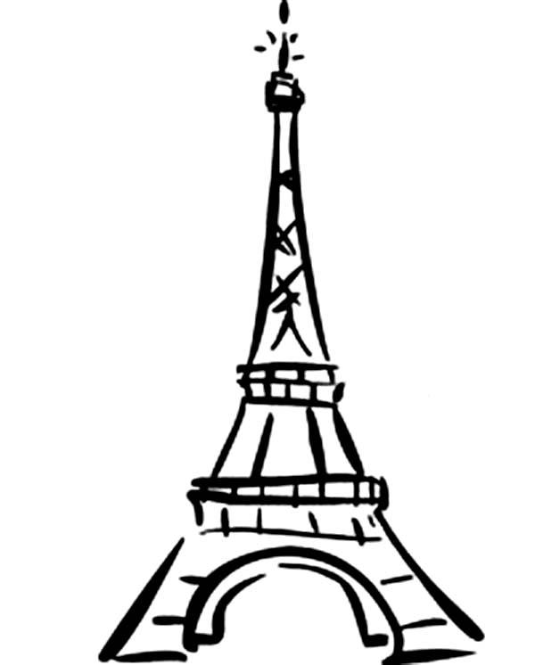 Gallery for black eiffel tower cartoon