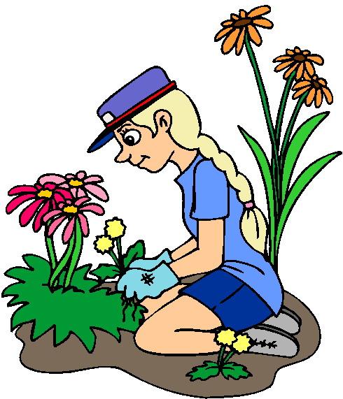 Garden flowers clipart image clipart illustration of ...