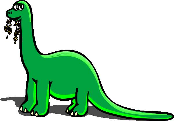 Green dinosaur clipart