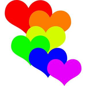Heart clipart rainbow clipart
