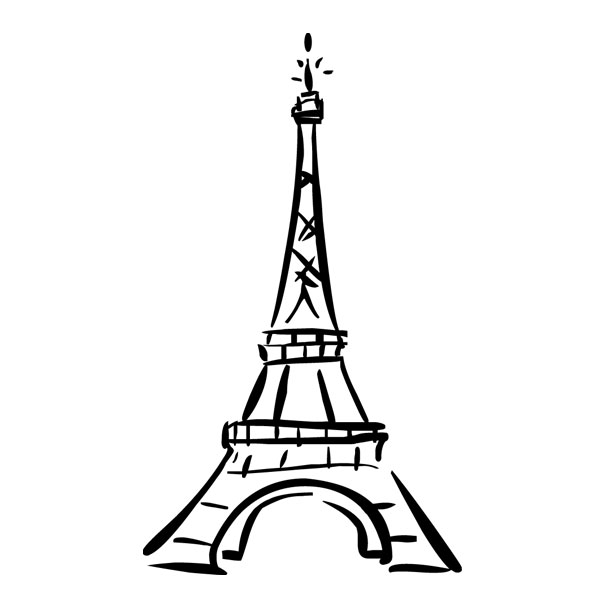 How to draw the eiffel tower clipart