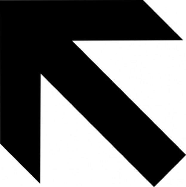 Linksboven black arrow clip art