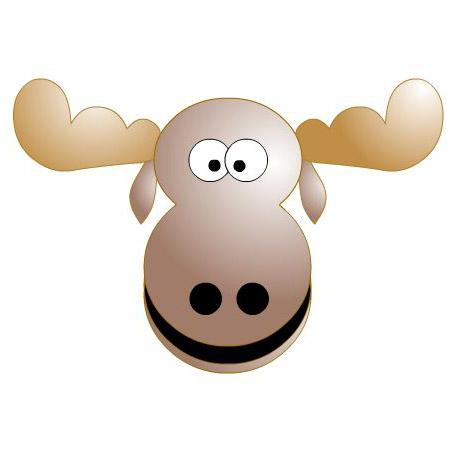 Moose animals clip art my ctr ring