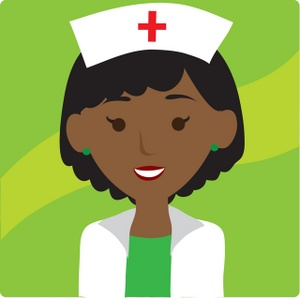Nurse clipart image clip art illustration of an african american