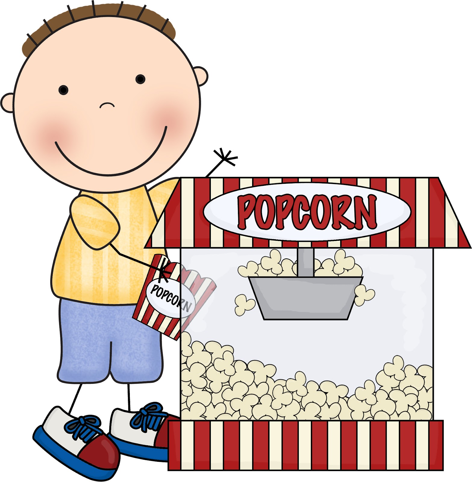 Piece of popcorn clipart free clipart images