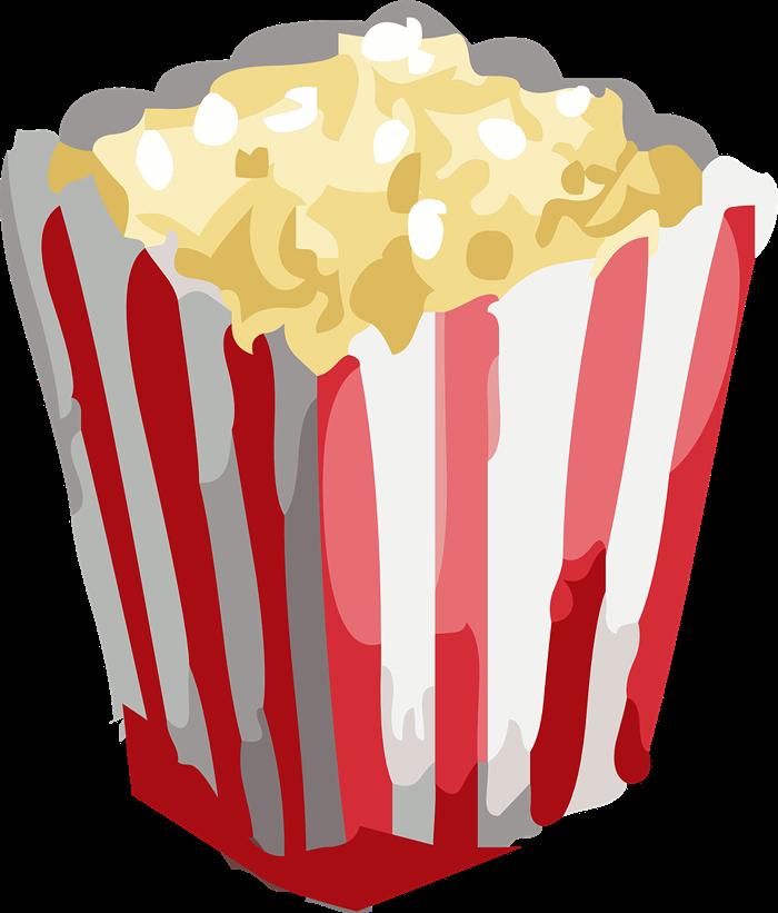 Popcorn food clip art  2