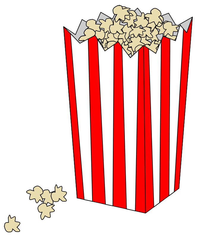 Popcorn food clip art