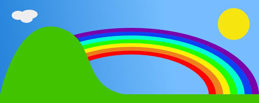 Rainbow clip art  2