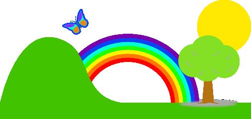 Rainbow clip art 3