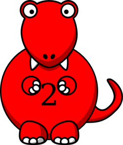 Red dinosaur clip art at vector clip art online