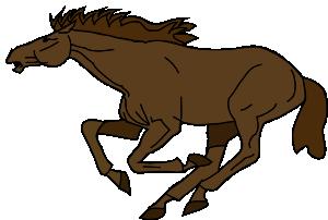 Running horse clip art at vector clip art online