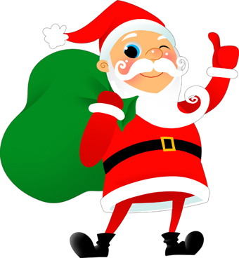 Santa christmas clip art