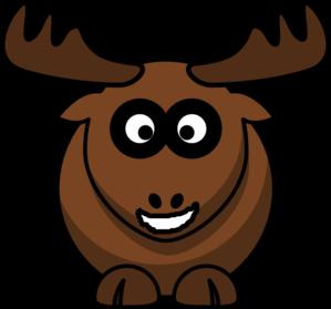 Smiling moose clip art at vector clip art online