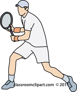 Tennis clipart tennis player backhand stroke classroom clipart