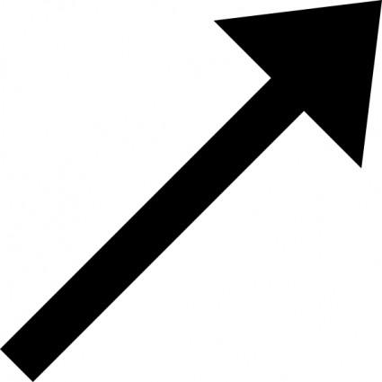 Up right black arrow clip art free vector in open office ...