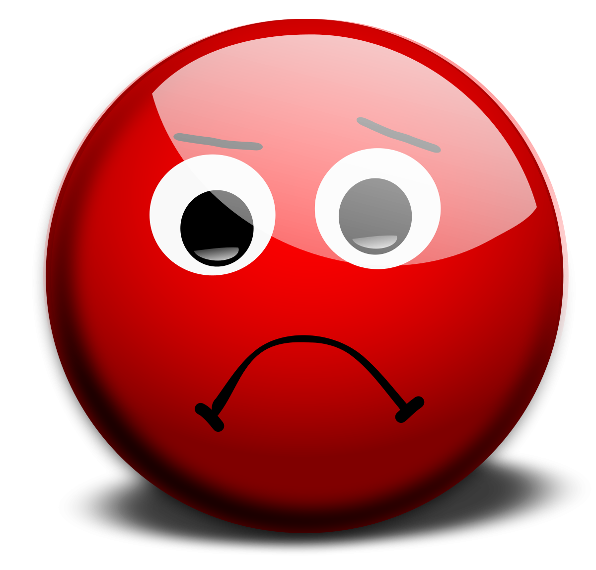 A sad face clipart