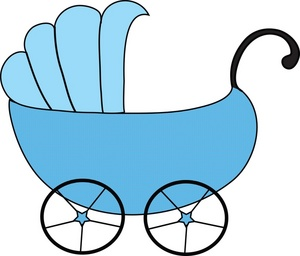 Baby carriage clipart image blue baby carriage
