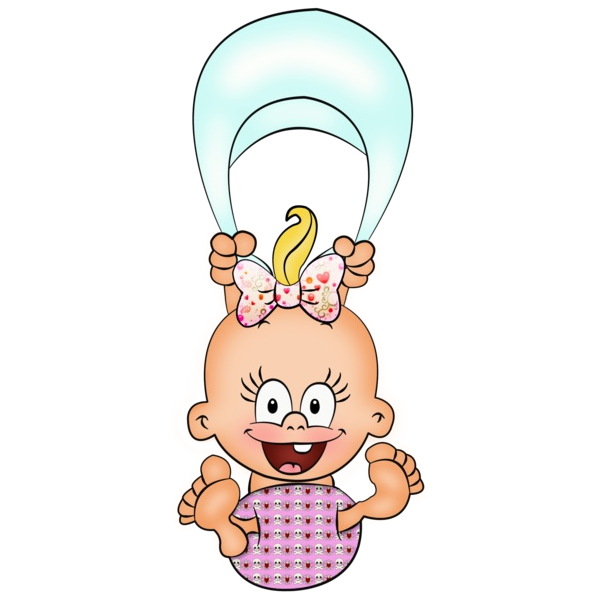Baby Girl Cartoon Clipart Height 2 Image 6216