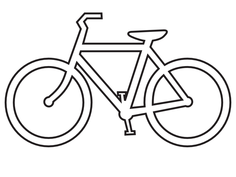 Bicycle clip art black and white basic mountain bike national