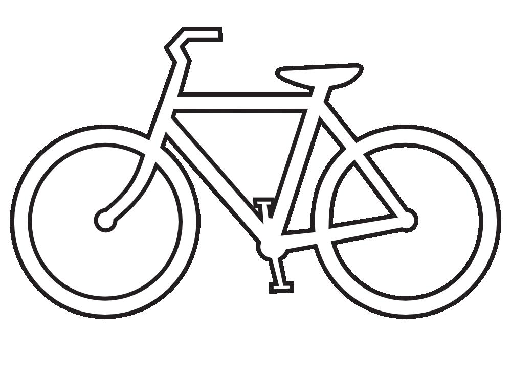 Bicycle clip art black and white basic mountain bike national
