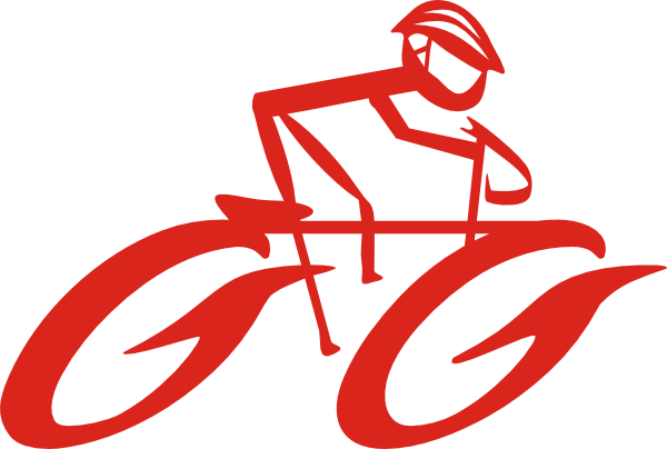 Bicycle cyclist on bike clip art at vector clip art online