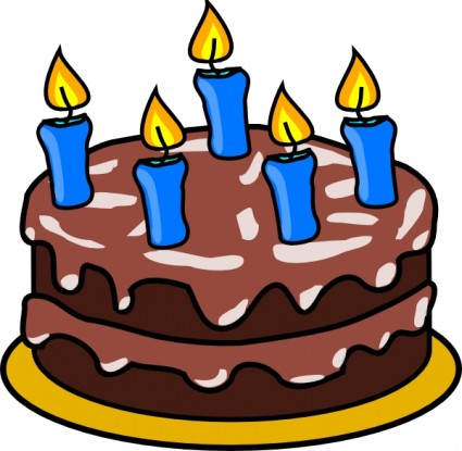 Birthday cake clip art free vector in open office drawing svg 5