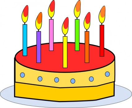 Birthday cake clip art free vector in open office drawing svg 7