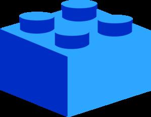 Blue lego clip art at vector clip art online royalty