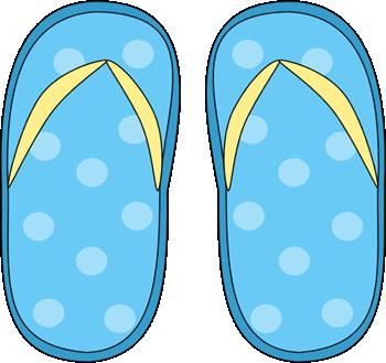 Blue polka dot flip flops clip art blue polka dot flip flops image
