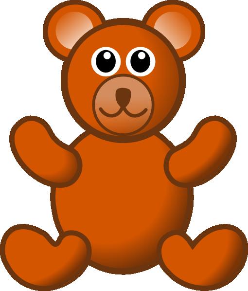 Brown teddy bear clip art at vector clip art online