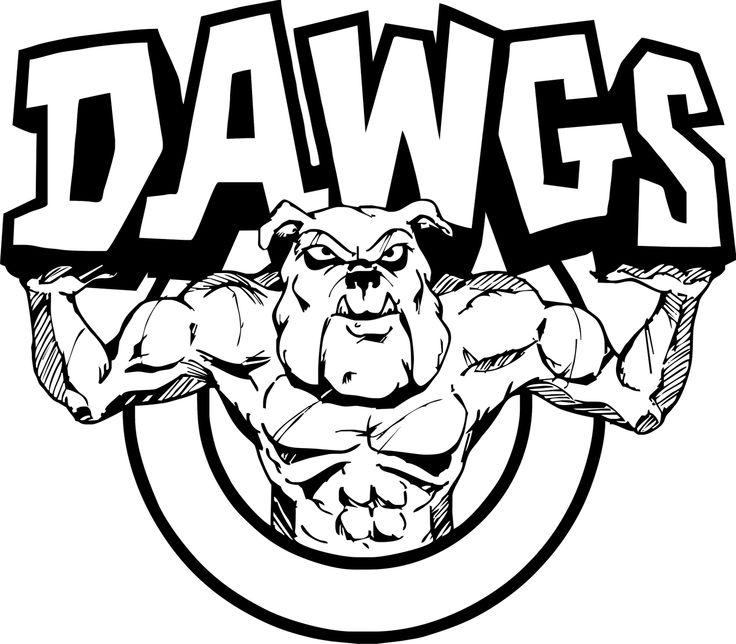 Bulldog clip art mas dg dawgs clip art
