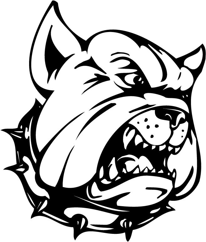 Bulldog motocross clipart