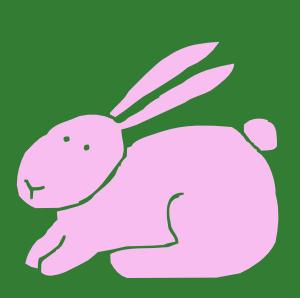 Bunny clip art free vector