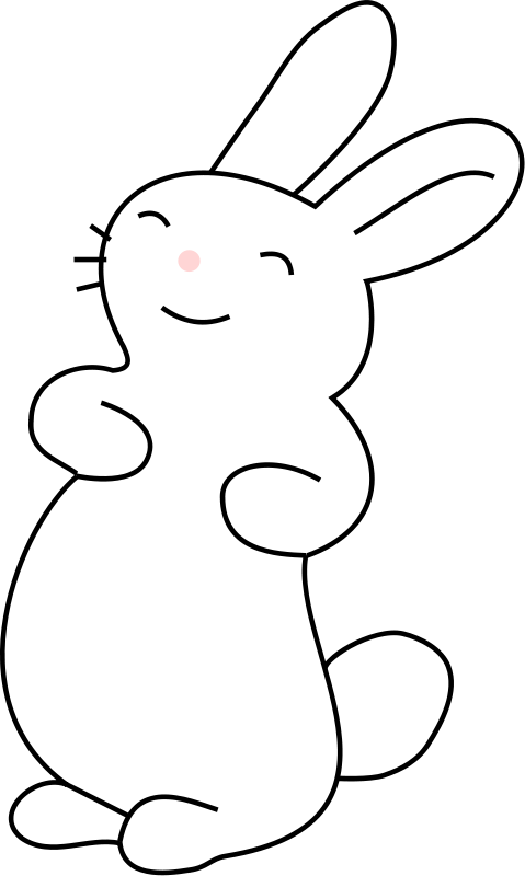 Bunny easter clip art