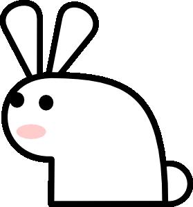 Bunny rabbit clip art at vector clip art online royalty
