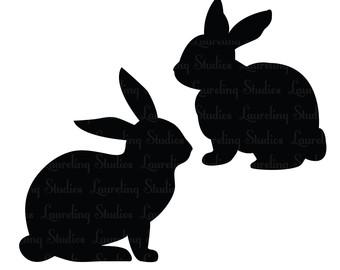 Bunny Silhouette Clip Art Clipart