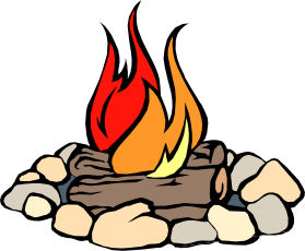 Campfire camping clip art