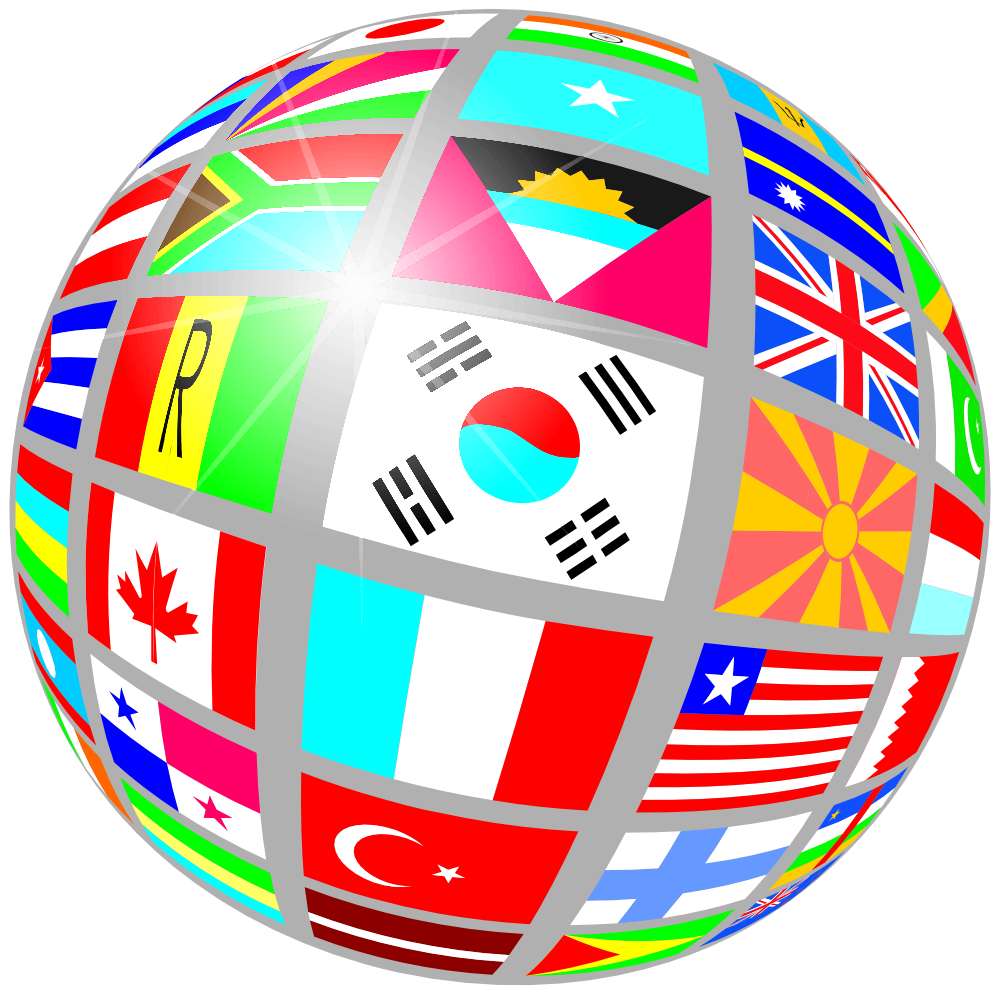 Clip art flags of the world clipart