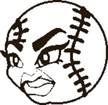 Clipart softball clipart