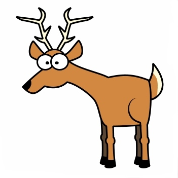 ... one of Deer Clip Art picture and get download with single click