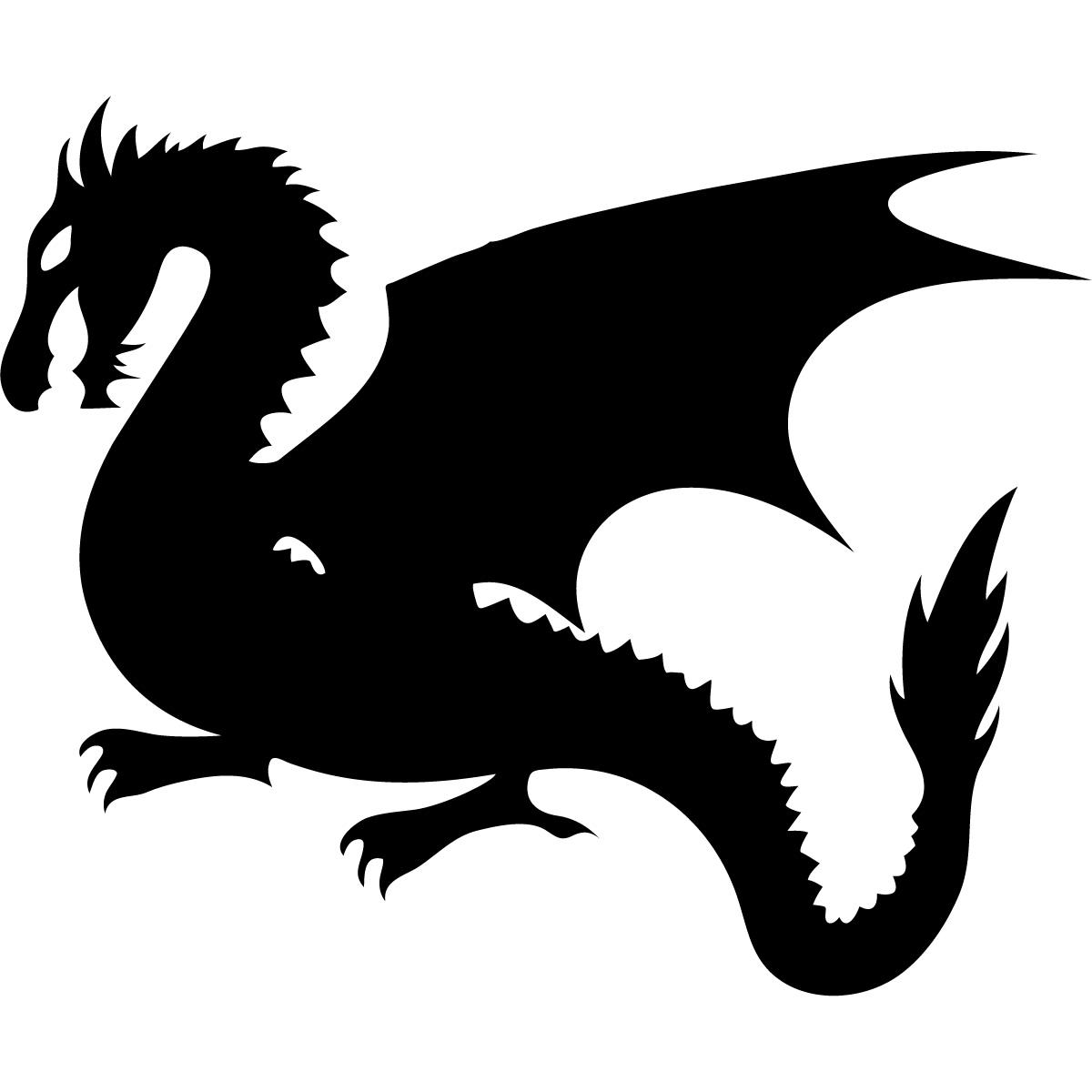Dragon silhouette clip art