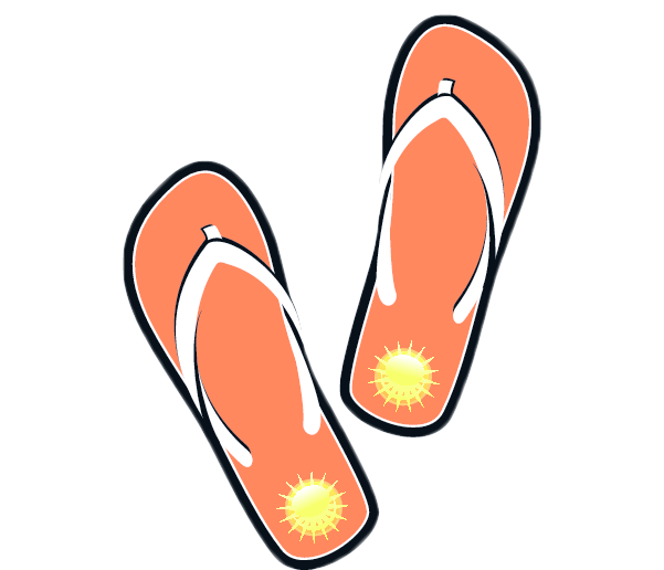single flip flop clipart. flip flop clipart image 6610 single