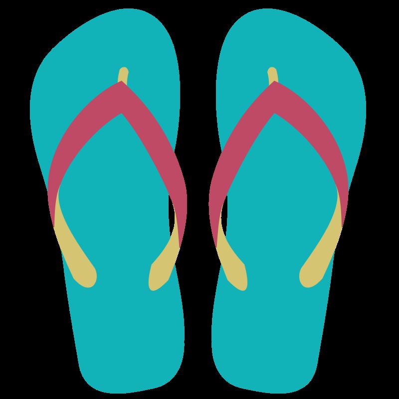 Flip flop sandals clip art