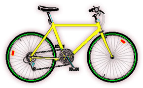 Free bicycle s animated bicycle clipart